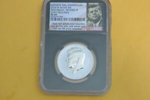 2014 W  KENNEDY SILVER NGC PF69 REV PF EARLY RELEASES ASK NOT LABEL RETRO