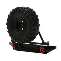 Metal Rear Bumper with Tire Rack & Tire for Axial SCX10 1/10 RC Crawler