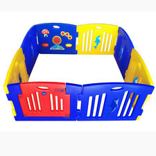 New Baby Kids Interactive 8 Sided Playpen Play pen with Gate safety Gate