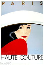 RAZZIA Haute Couture Fashion Paris Vintage Style Poster