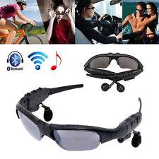 Multifunction Wireless Sports Bluetooth Polarized Sunglasses w/Headset Headphone