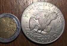 GROSSE PIECE DE 1 DOLLAR EISENHOWER AVEC L'AIGLE 1971 D (586)