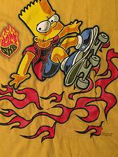 Bart Simpson Skateboard Rare T-Shirt Sz XL 2001 Sk8 The Simpsons vtg TV Show