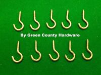 10 x HOOKS FOR NET CURTAIN WIRE SILVER METAL SCREWS PICTURE HANGING