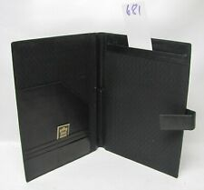A4 Black Real Leather  folder (style 681)