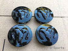 4Pcs GLOSS BLACK WHEEL HUB CAPS Fit for DODGE RAM DURANGO DAKOTA CARAVAN STRATUS