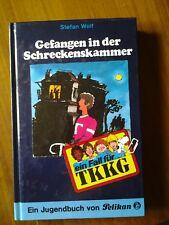 ein fall für TKKG Stefan Wolf- Gefangen in der Schreckenskammer- Verlag Pelikan
