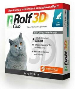 Rolf Club 3D Flea & Tick Collar Cat 8 Month Protection Treatment Prevention
