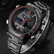 NAVIFORCE Mens Luxury Brand Wrist Watch New Fashion Analog Digital LED Watch Men