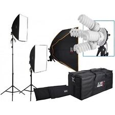 Life Of Photo 2800W 5400K Continuous  Lighting Kit with 2 Softboxes