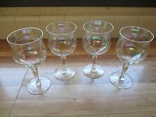 Antiques Gentle Antique Glasses Iridescent Wine Glasses Carnival Glass Goblets Set Of 2 Decorative Arts