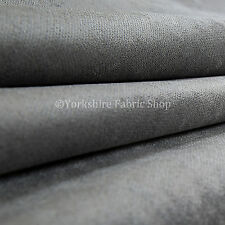 10 Metres Of Luxurious Plump Chenille Invitingly Soft Upholstery Fabric Silver