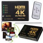 5 Port HDMI 4K Switch Switcher Selector Splitter Hub iR Remote For 1080p HDTV