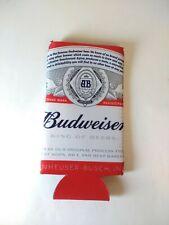 "Budweiser King of Beers Red Koozie -  7"" Bottle Coozie Holder"