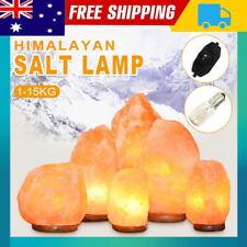 1kg-15kg Natural Himalayan Salt Crystal Lamp - Dimmer Switch Night Light AU
