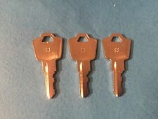 3 HON-MASTER KEYS-Works-Storage,Lateral & office File Cabinets LOOK @ Pictures