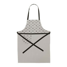 Ikea Apron, Vinter 2015, Cotton with pocket, Gray with black print.