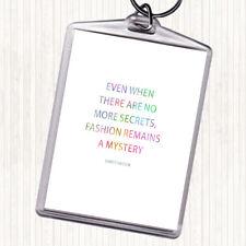 Christian DIOR Fashion un mystère Rainbow Citation Sac Tag Keychain Keyring