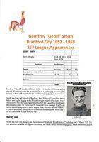 GEOFF SMITH BRADFORD CITY 1952-1959 RARE ORIGINAL SIGNED NEWS CHRONICLE CARD