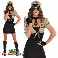 Womens Ladies Police Woman Shakedown Sheriff Cop Fancy Dress Costume