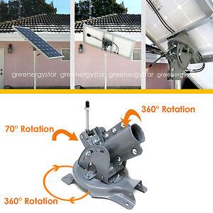 Steel Adjustable Universal Pole Mount Optimize Solar Panel Orientation 100-200W