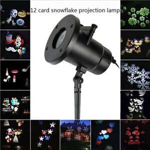 Indoor&Outdoor Moving Projector Christmas Lights Laser Lamp Projection LED  New
