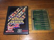 World Heroes 2 (Neo-Geo MVS) SNK Game Cartridge in Shock Box Vr Nice!