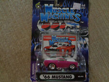 MUSCLE MACHINES '66 MUSTANG PINK 1:64 SCALE