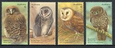 2016 Owls!  Guardians of The Night - Set of 4 Mint Unhinged Stamps