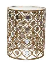 """Beistelltisch """"Orient-Stil"""" Metalltisch Glastisch Couchtisch Farbe: Antik-Gold"""
