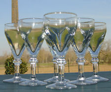 Service de 6 verres de bistrot en verre soufflé. XIXe s. Haut. 15 cm