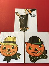 Halloween Vintage Die Cut H E Luhrs Beistle USA 4 Piece Lot