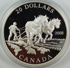 2008 Canada $20 Agriculture Trade .9999 1oz Silver Proof Coin-w/ Box & COA