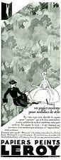 Publicité ancienne papiers peints Leroy 1929 Elvinger issue de magazine