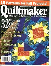 QUILTMAKER MAGAZINE SEPTEMBER/OCTOBER 2001 ~  MIRASOL COVER DESIGN