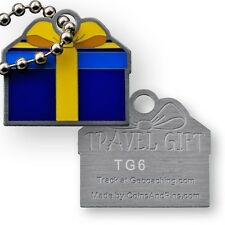 Travel Gift Micro Travel Tag (Travel Bug Geocoin) For Geocaching - Blue Version