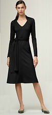 Brand New Talbots Sash Wrap Dress Color Black Size XS