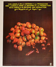 1978 Cuban OSPAAAL Political Poster.Cold War era.ANGOLA.Africa.Coffee & Bullets