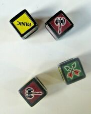 1997 LIONHEART Dice Set Of 4 Parker Brothers Medieval Game Pieces