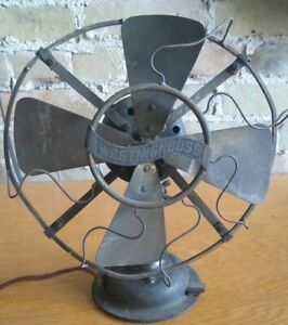 """Westinghouse Antique Electric Fan — Solid Brass/All Brass Body 8"""" Made In 1909"""
