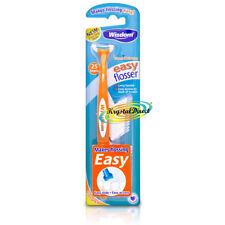 Wisdom Clean Between Easy Flosser Handle & 25 Toothpick Floss Heads