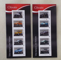 2014 FRANCE 2 X STRIPS OF 10 CITROEN PEEL & STICK STAMPS MINT
