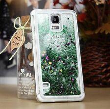 Samsung Galaxy Note 4 - HARD SKIN CASE COVER Flowing Sparkle Liquid Glitter Star
