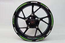 Pegatinas de llanta GP - estilo Carreras 1000 Verde para 16'' 17'' 18'' Pulgadas
