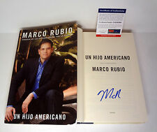MARCO RUBIO PRESIDENT 2016 SIGNED SPANISH AN AMERICAN SON HC BOOK PSA/DNA COA