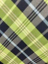 Chaps Youth Polyester Plaid Necktie Green Blue Black Sky Blue Euc
