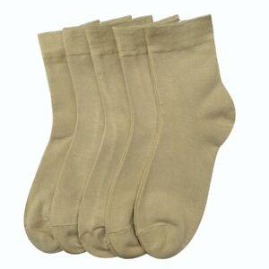 Women Casual Socks Thin Bamboo Fashion Soft Multi-solid color Socks 5 Pairs