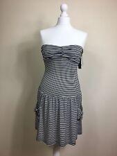 Top Shop Stripy Striped Blue White Strapless bandeau dress BNWT New  UK 6 (D)