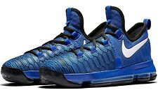 NEW YOUTH NIKE KD 9 sz 4Y BLUE Black White Basketball Shoes Sneakers Durant