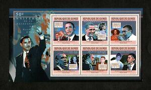 Guinea 2011 - 50th Birthday Anniversary Barack Obama - Sheet of 6 Stamps - MNH